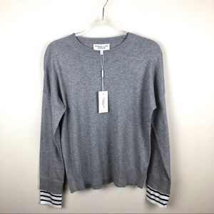 Derek Lam Denim Grey Crewneck Knit Sweater Large L